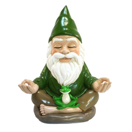 Zen Gnome – Tranquility and Peacefulness for your Fairy Garden and Garden Gnomes - 9 Inches