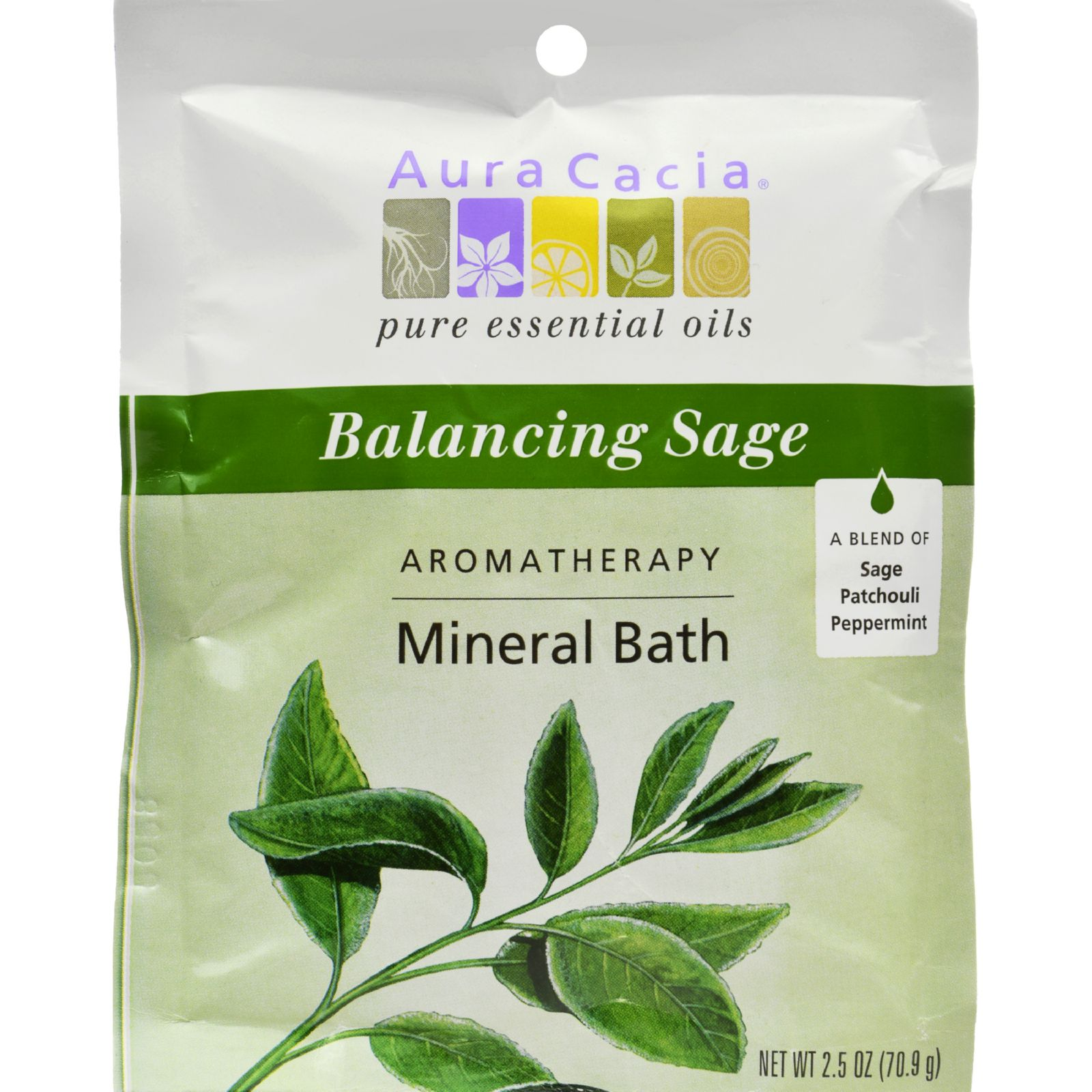Frontier Natural Aura Cacia  Aromatherapy Mineral Bath, 2.5 oz