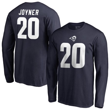 wholesale dealer 67453 f6349 Lamarcus Joyner Los Angeles Rams NFL Pro Line by Fanatics Branded Authentic  Stack Name & Number Long Sleeve T-Shirt - Navy - Walmart.com