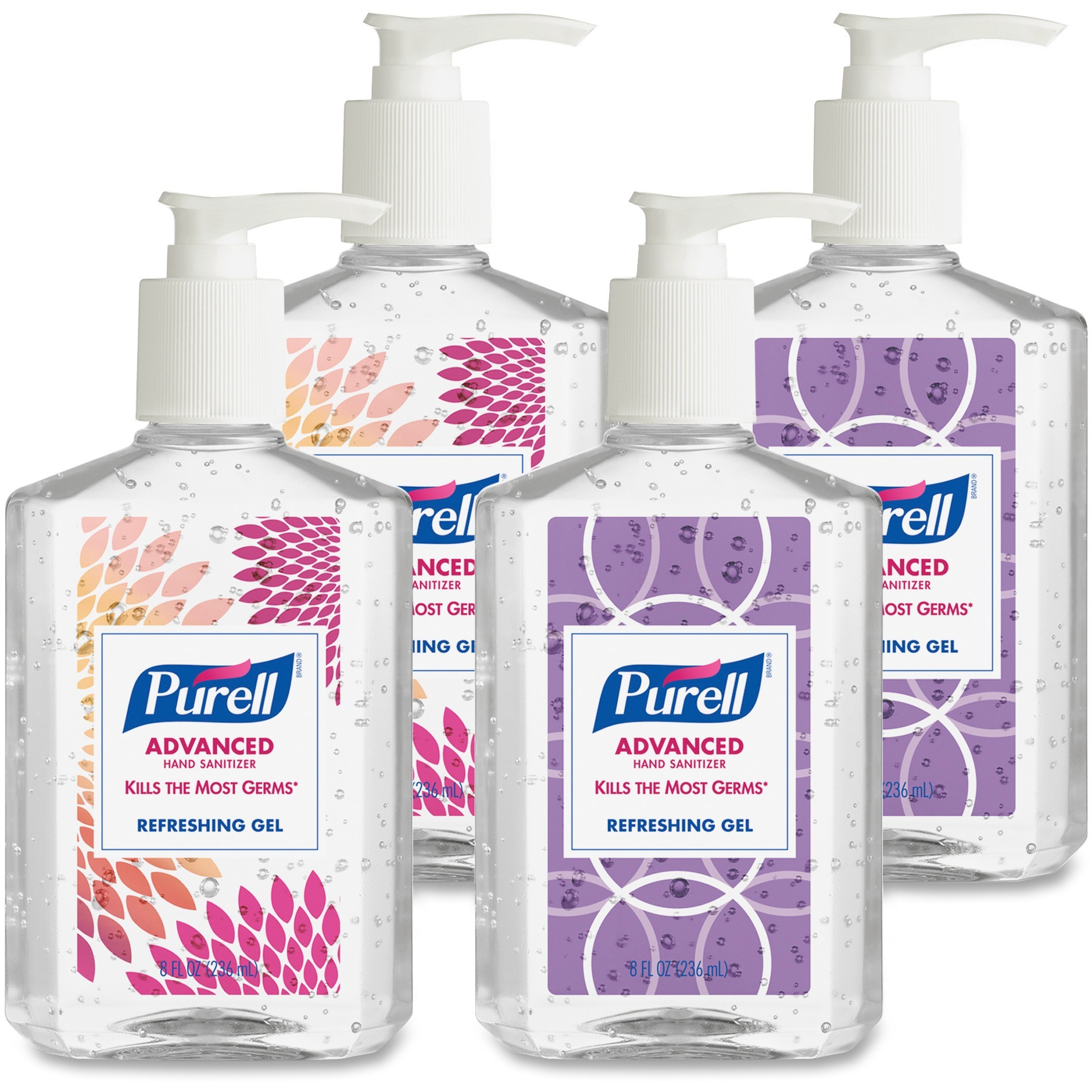 (Pack of 4) PURELL® Advanced Refreshing Gel Instant Hand Sanitizer Design Series, 8 Oz