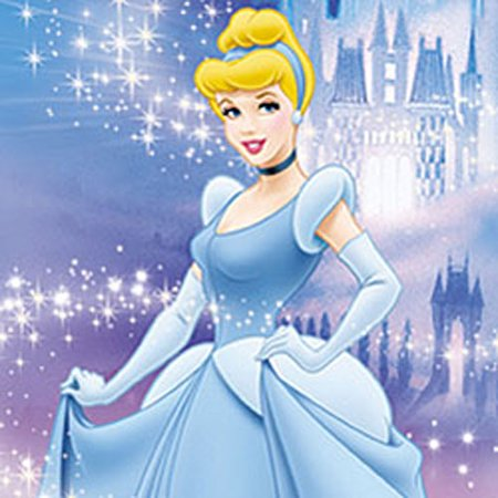 Blue Mountain Wallcoverings 17160837 2pc Cinderella Disney Princess Self Stick Wall Accent -