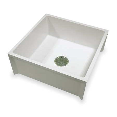 MUSTEE Mop Sink,White,24 In L -