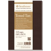 """Strathmore Soft Cover Toned Art Journal, 400 Series, 112 pages, 5.5"""" x 8"""", Tan"""