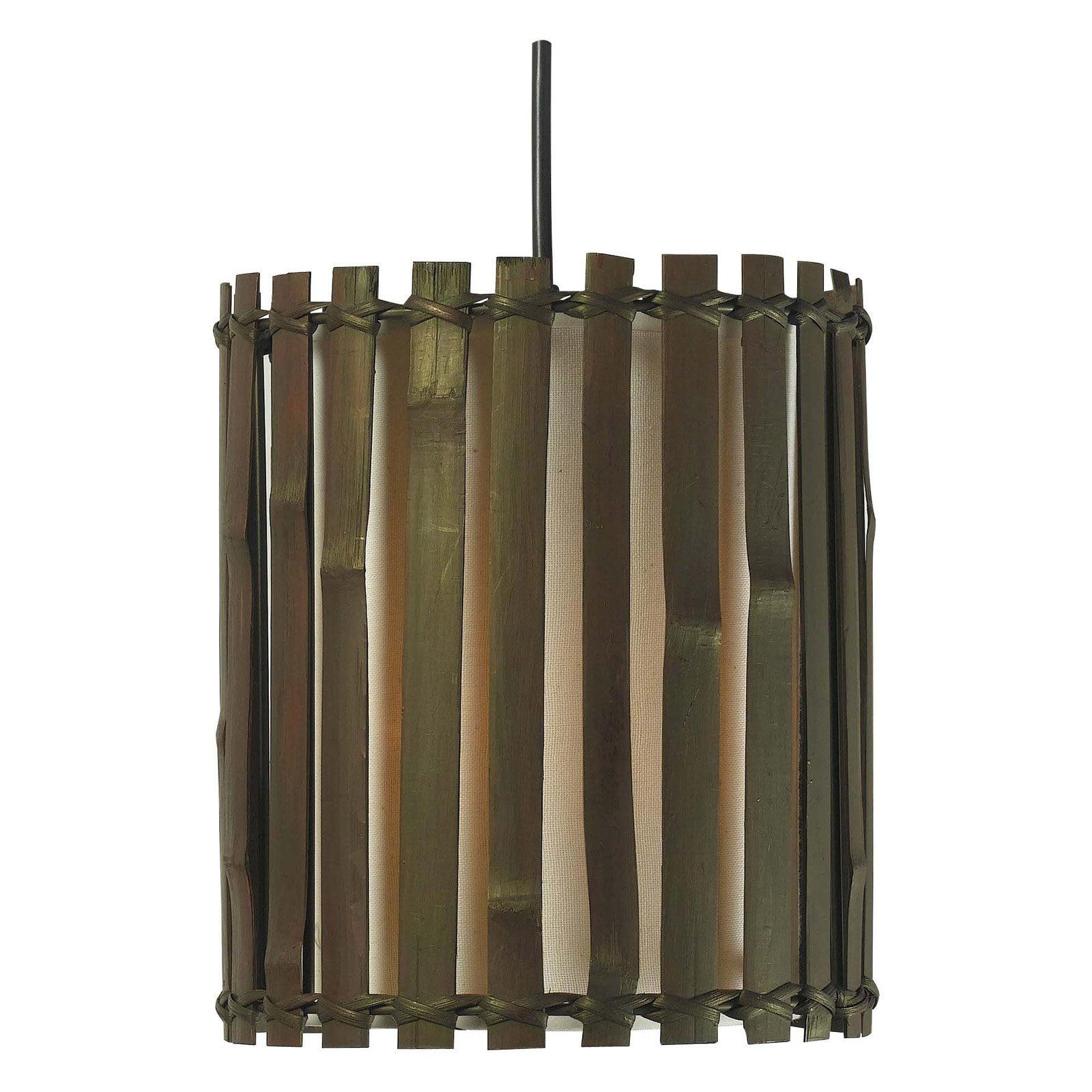 Kenroy Home Grove 1-Light Mini Pendant, Dark Split Bamboo