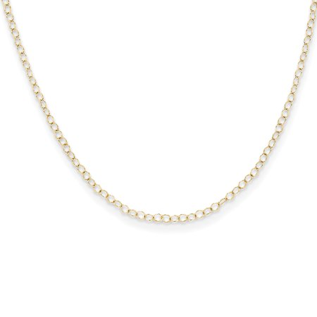 14kt Yellow Gold Link Cable Chain Necklace 15 Inch Pendant Charm Fine Jewelry Ideal Gifts For Women Gift Set From Heart