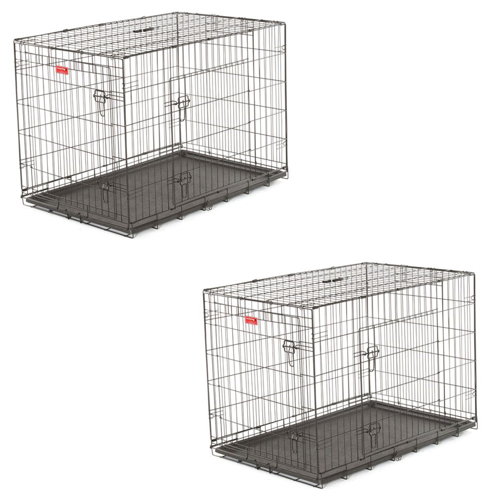 Lucky Dog 2 Door Dog Training Kennel with Leak Proof Pan, Extra Large (2 Pack)