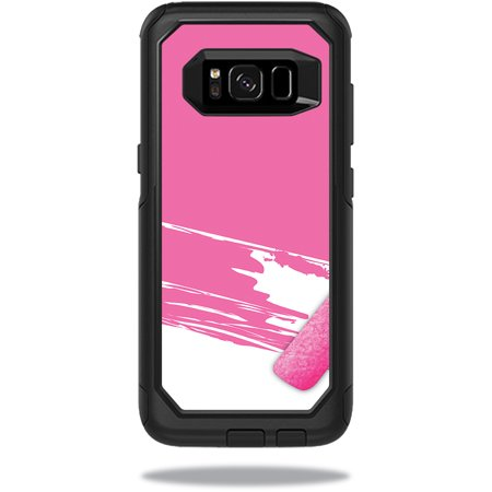 MightySkins Protective Vinyl Skin Decal for OtterBox CommuterSamsung Galaxy S8 Case sticker wrap cover sticker skins Pink Paint Roller