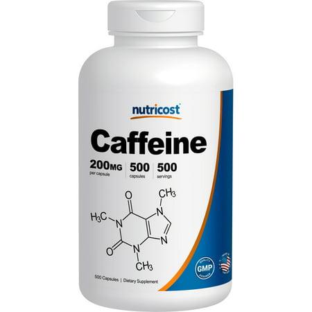 Caffeine 200mg 90 Tabs (Nutricost Caffeine 500 Capsules, 200mg Per Capsule )