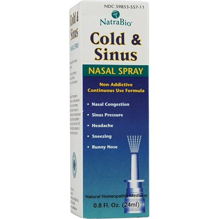Natra Bio Cold & Sinus Nasal Spray 8 Fl Oz Walmart