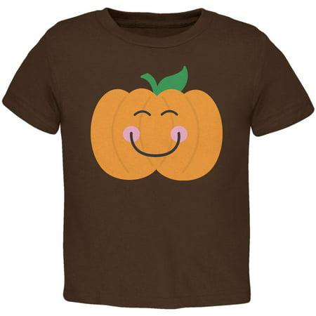 Halloween Little Pumpkin Brown Toddler T-Shirt - Halloween Pumpkin Experiment