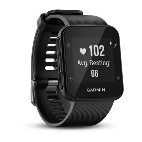 "Refurbished ""Garmin Forerunner 35 Black GPS Running Watch with Wrist-based Heart Rate"""