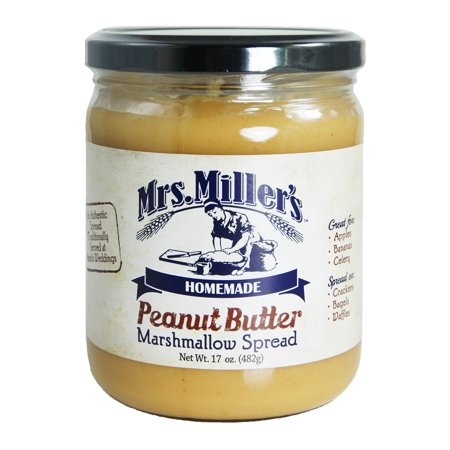 Mrs. Miller's Peanut Butter Marshmallow Spread 17 oz. (2 (Peanut Butter Fudge Made With Marshmallow Creme)