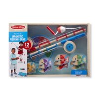 Melissa & Doug 12-Piece Magnetic Fish Wooden Fishing Game With Rods and Reels