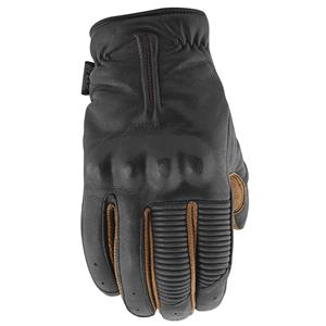 Speed & Strength Quick and the Dead Mens Leather Gloves Black/Tobacco