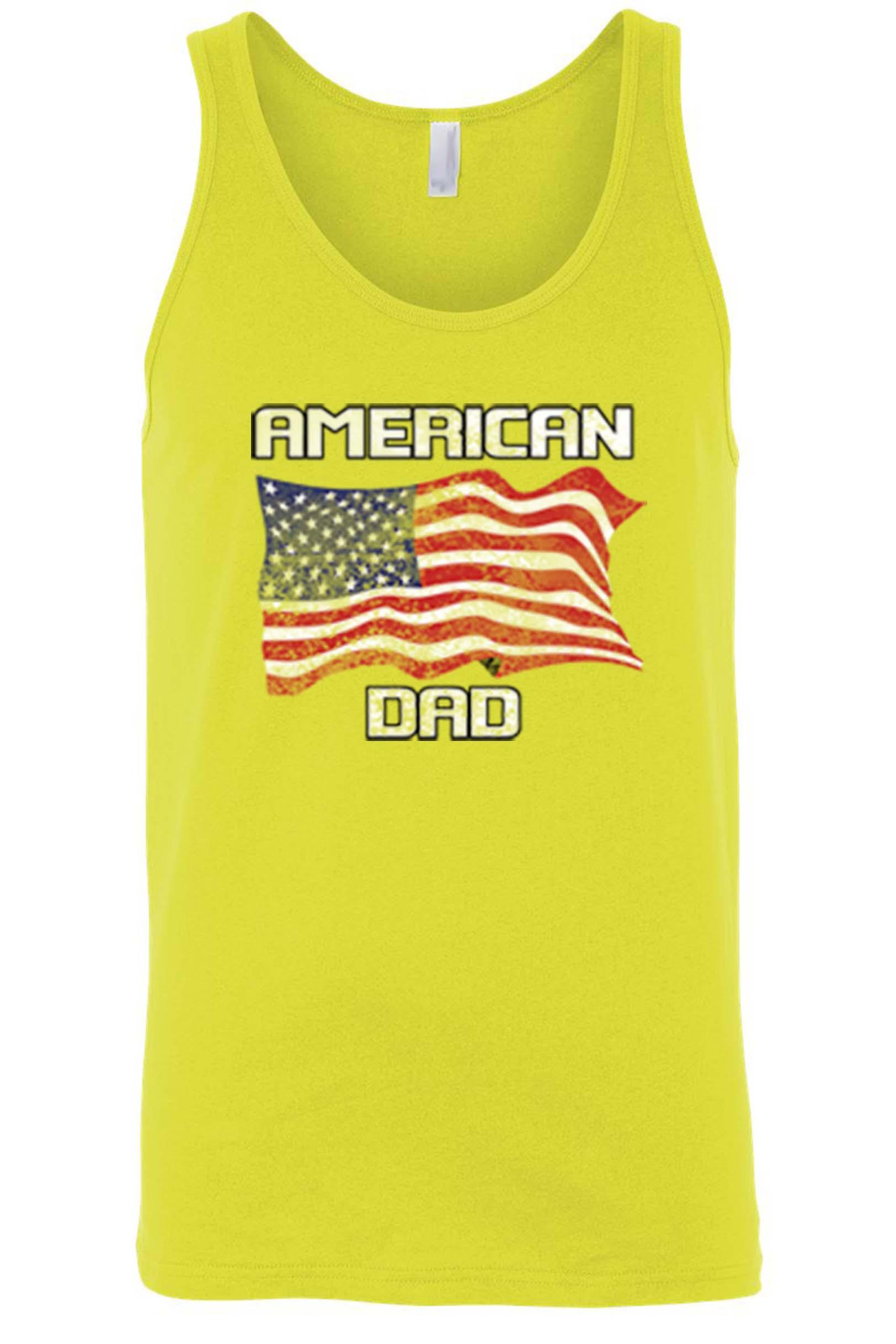 Men's American Dad USA Flag Tank Top Shirt