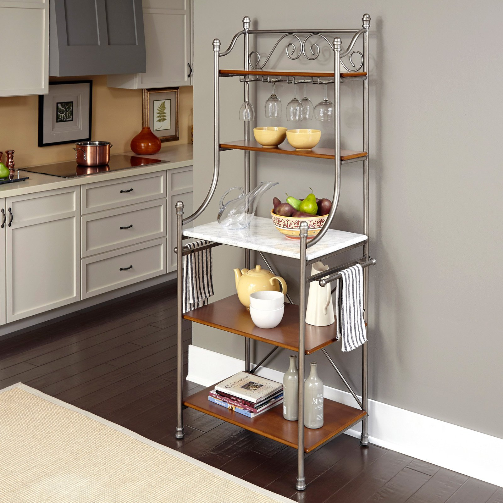 home styles orleans baker s rack walmart