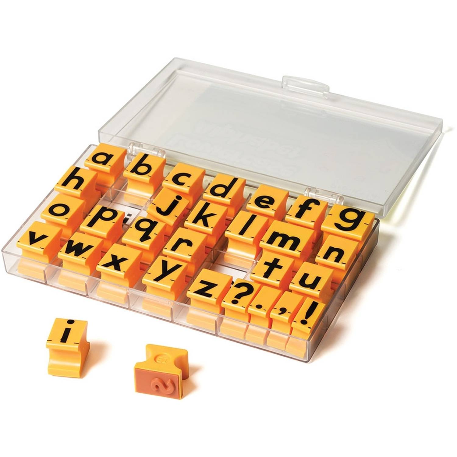 """Educational Insights Alphabet Rubber Stamps, Lowercase, 5/8"""""""