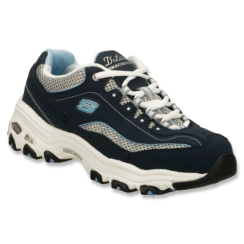 Skechers DLites Centennial Womens Sneakers Navy/White/Light Blue 11 W