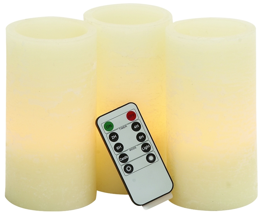 stylish and simple inspired led flameless candle remote set home accent decor - Flameless Candles With Timer