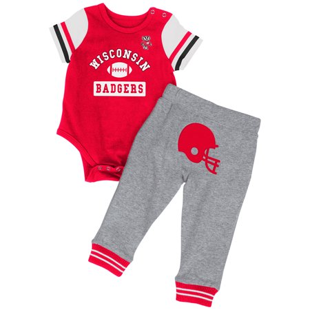 - Wisconsin Badgers Colosseum Infant Boys MVP One Piece Outfit and Sweatpants Set