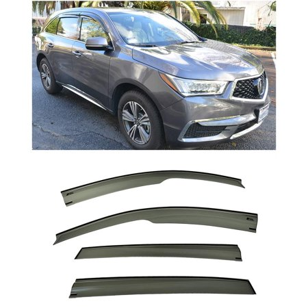 Extreme Online Store for 2014-Present Acura MDX | EOS Visors JDM Mugen Style Smoke Tinted Side Vents Window Deflectors Rain