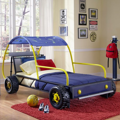 Powell White Twin Bedroom In A Box: Powell Furniture Twin Dune Buggy Car Bed With Wheels