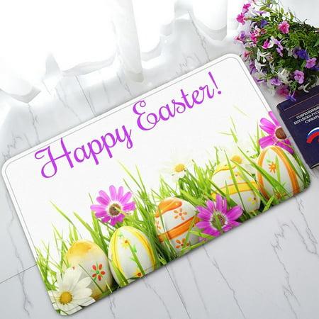 - GCKG Happy Easter Non-Slip Doormat Indoor/Outdoor/Bathroom Doormat 30 x 18 Inches