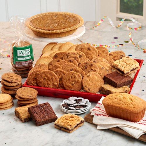 Tates Bake Shop Deluxe Birthday Tray Gift Basket