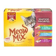 Meow Mix Seafood Favorites Variety Pack Cat Food - 12 CT