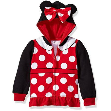 Girls White Hoodie - Minnie Mouse 3D Costume Hoodie (Little Girls & Big Girls)