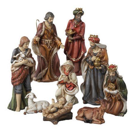 Kurt Adler Porcelain Nativity Figures Tablepiece - Set of