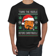 Twas The Nizzle Snoop Dog Sweater | Mens Ugly Christmas Graphic T-Shirt