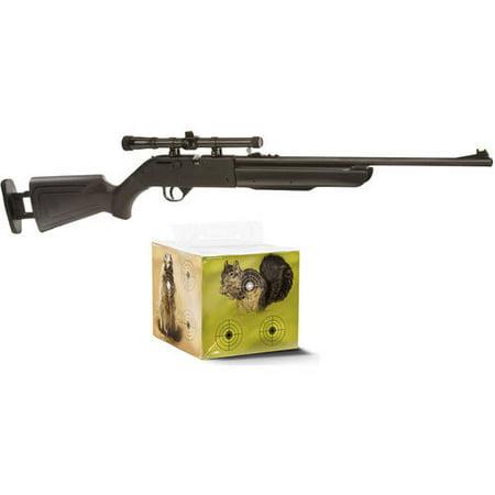 Crosman Recruit .177 Caliber Air Rifle and Shooting Block