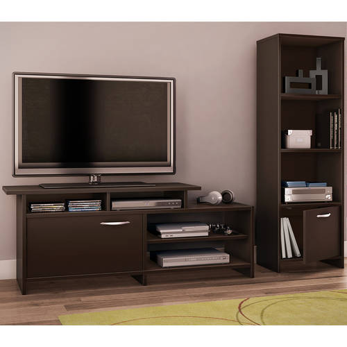 South Shore Soho TV Stand and Media Storage Bookcase, Multiple Finishes