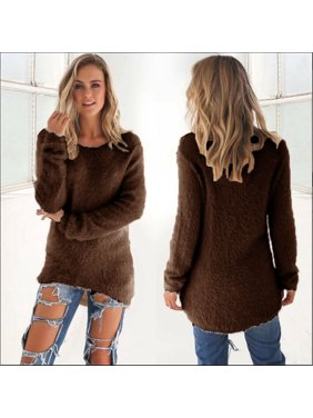 69b548d10b Product Image Women s Tops Fashion Warm Knitting Long Sleeve Bejirog Solid  Sweater