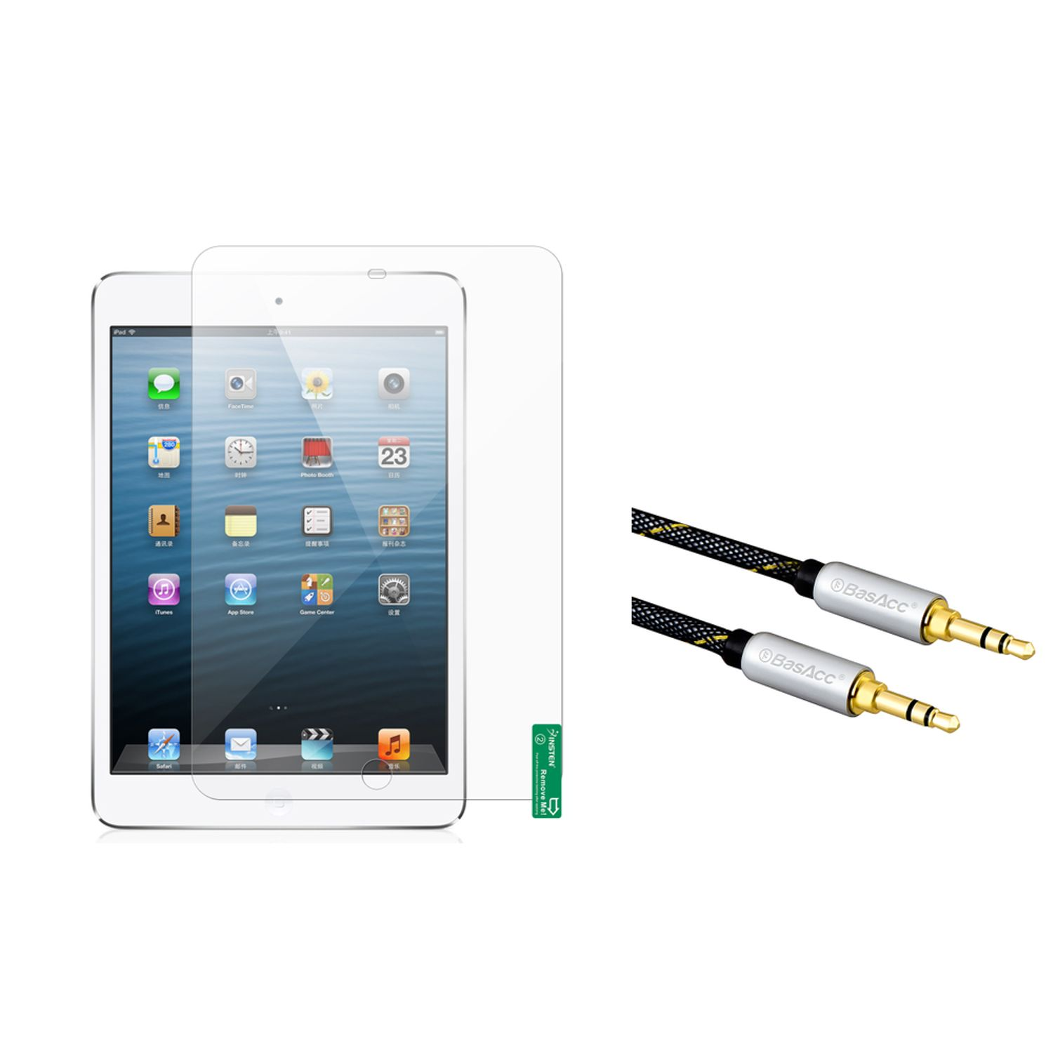Insten Anti-Glare Screen Protector For iPad Mini 3 3rd / 2 2nd with Retina Display / 1 1st Gen (+ 3.5mm Audio Cable M/M)