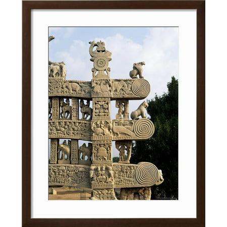 Best Inside Face of the North Gateway, the Great Stupa, Sanchi, Madhya Pradesh, India Framed Print Wall Art By Richard Ashworth deal