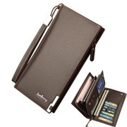Hirigin Mens Wallet ID Card Holder Leather Long Clutch Handbags