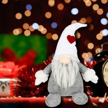 Handmade Swedish Tomte,Santa Gnome Plush Birthday Present - Home Ornaments Christmas Decoration Dolls Table Decor