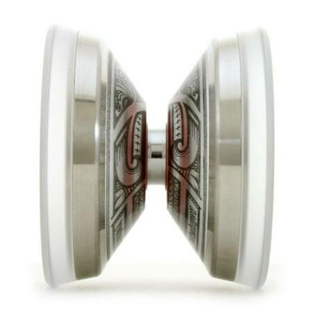 YoYoFactory POLY Edge Yo-Yo - Polycarbonate Body with Stainless Steel Rim - Polynesian Inspired Art (Polycarbonate Rim)