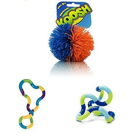 Koosh Ball Tangle Jr. Carnival Tangle Jr. Tropical - Both The Koosh Balls and the Tangles are Classic Sensory Fidget and relieve stress