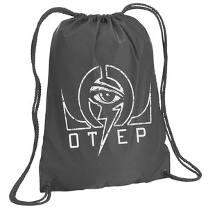 Otep Omega Eye Drawstring Backpack Grey
