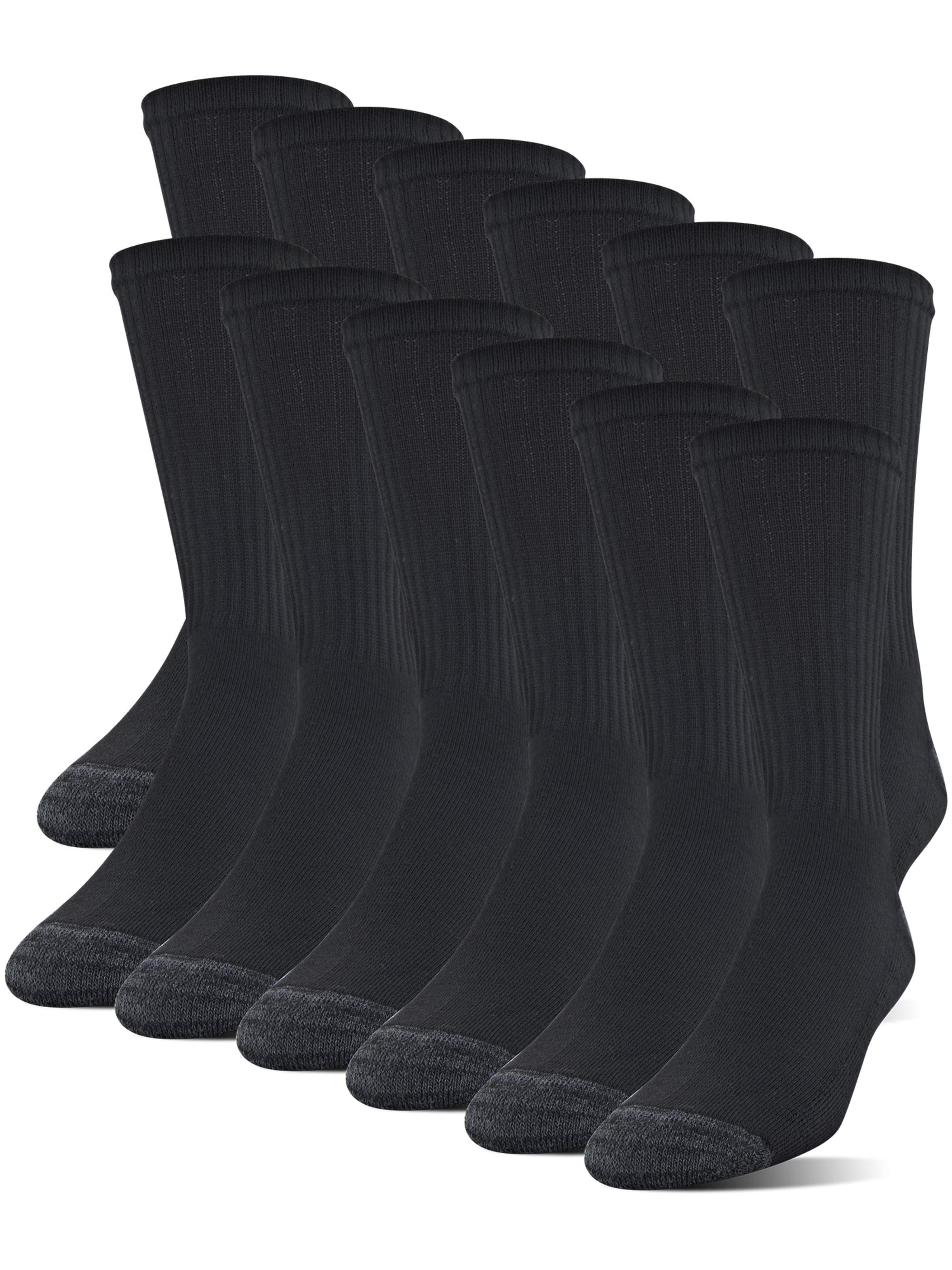 Men's Half Cushion Crew Socks, 12-Pack