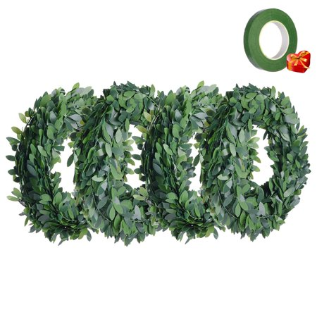 Ivy Garland Artificial Greenery Plants 90 Feet 32.8 Yards Fake Vine Garland Foliage Green Leaves with 1/2