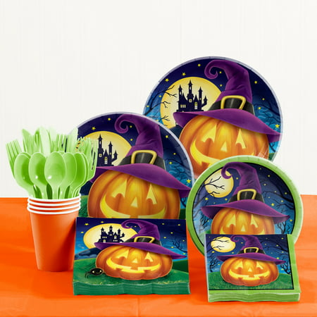 October Eve Halloween Party Supplies Kit for 8