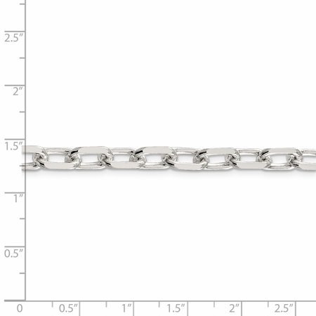 925 Sterling Silver 7.5mm Elongated Open Link Chain 18 Inch - image 4 of 5
