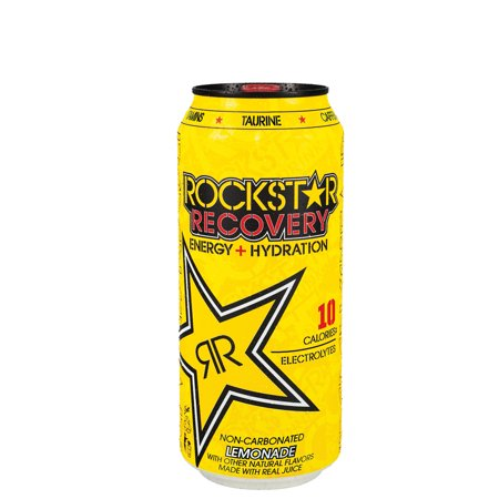 (24 Cans) Rockstar Recovery Lemonade Energy Drink, 16 Fl Oz, 24 Ct](Rockstar Tattoo)