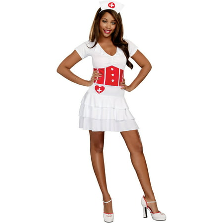Night Nurse Adult Women's Halloween Costume, Extra - Scary Nurse Costume Halloween