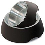 Petmate 23211 Stainless Steel/Black Pet Dish