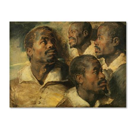 Trademark Fine Art 'Four Studies Of A Head Of A Moor' Canvas Art by Peter Paul (Head Art)
